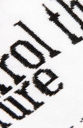 Мужские хлопковые носки HUGO белого цвета, арт. 50434801   Фото 2