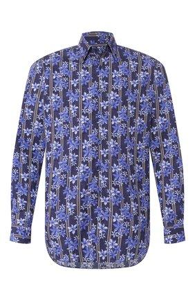 Мужская хлопковая рубашка ZILLI темно-синего цвета, арт. MFT-MERCU-84002/RZ01 | Фото 1