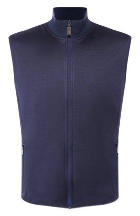 Мужской двусторонний жилет ZILLI темно-синего цвета, арт. MBT-GIREV-ZS131/SS01 | Фото 1