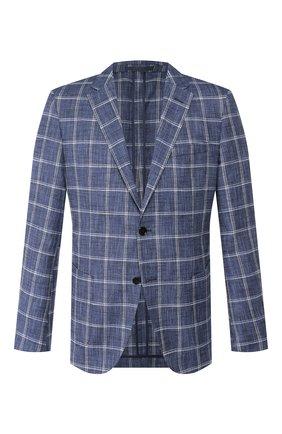 Пиджак из смеси хлопка и льна   Фото №1