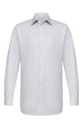 Мужская хлопковая сорочка BRIONI серого цвета, арт. RCLU1S/P909H | Фото 1