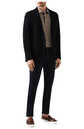 Мужской хлопковые брюки RALPH LAUREN темно-синего цвета, арт. 790802188 | Фото 2
