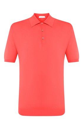 Мужское хлопковое поло CRUCIANI кораллового цвета, арт. CU558.P30 | Фото 1