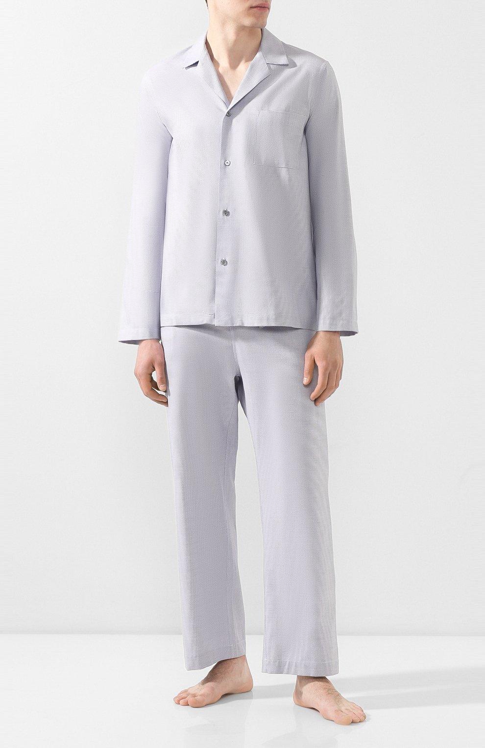 Мужская хлопковая пижама FRETTE серого цвета, арт. 20100500 00F 00845 | Фото 1