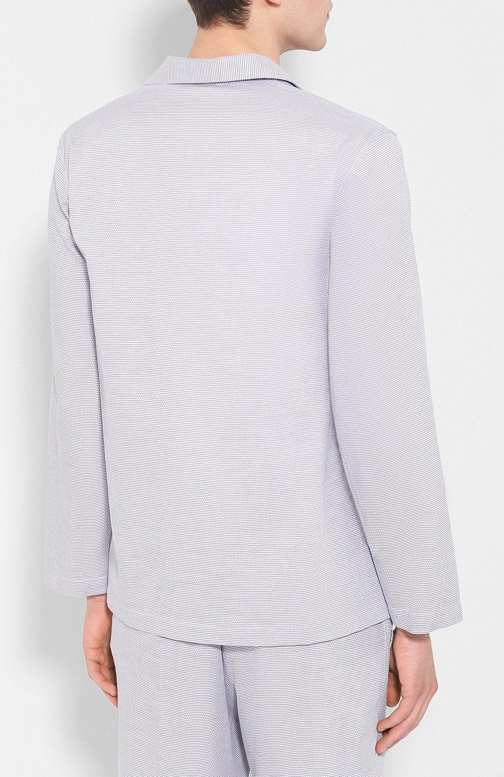 Мужская хлопковая пижама FRETTE серого цвета, арт. 20100500 00F 00845 | Фото 3
