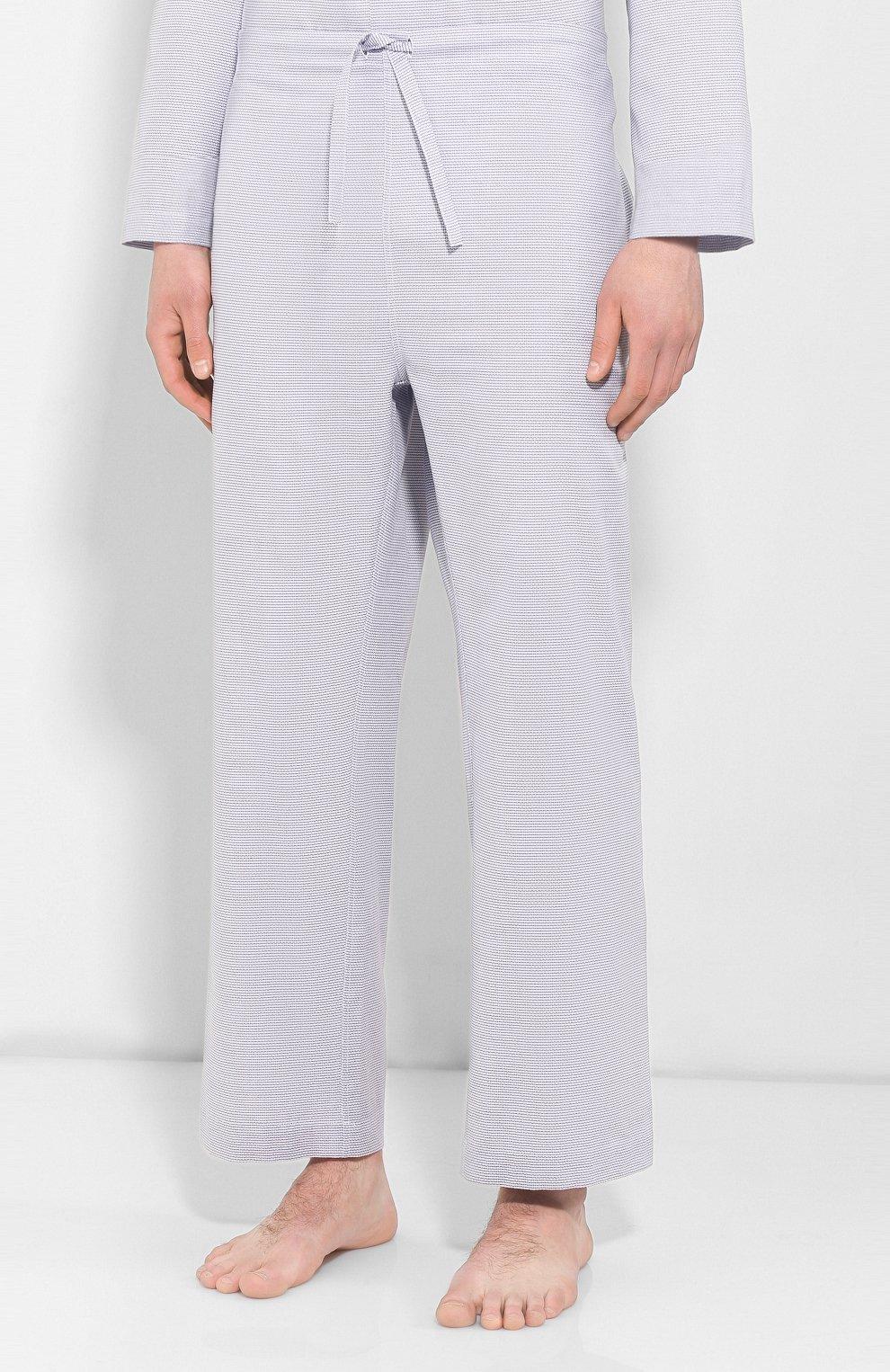 Мужская хлопковая пижама FRETTE серого цвета, арт. 20100500 00F 00845 | Фото 4