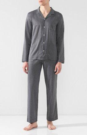Мужская хлопковая пижама FRETTE темно-синего цвета, арт. 20100500 00F 00847 | Фото 1