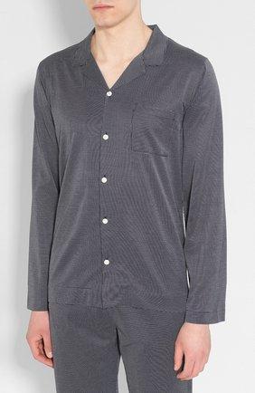Мужская хлопковая пижама FRETTE темно-синего цвета, арт. 20100500 00F 00847 | Фото 2