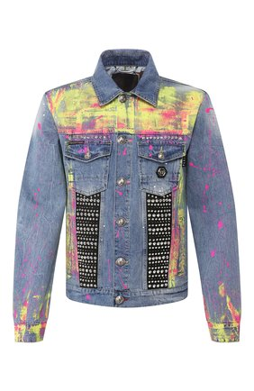 Мужская джинсовая куртка PHILIPP PLEIN голубого цвета, арт. P20C MDB0246 PDE004N | Фото 1