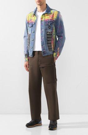 Мужская джинсовая куртка PHILIPP PLEIN голубого цвета, арт. P20C MDB0246 PDE004N | Фото 2