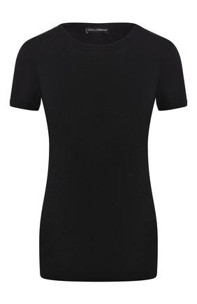 Женская футболка DOLCE & GABBANA черного цвета, арт. 08B01T/FUGJT | Фото 1