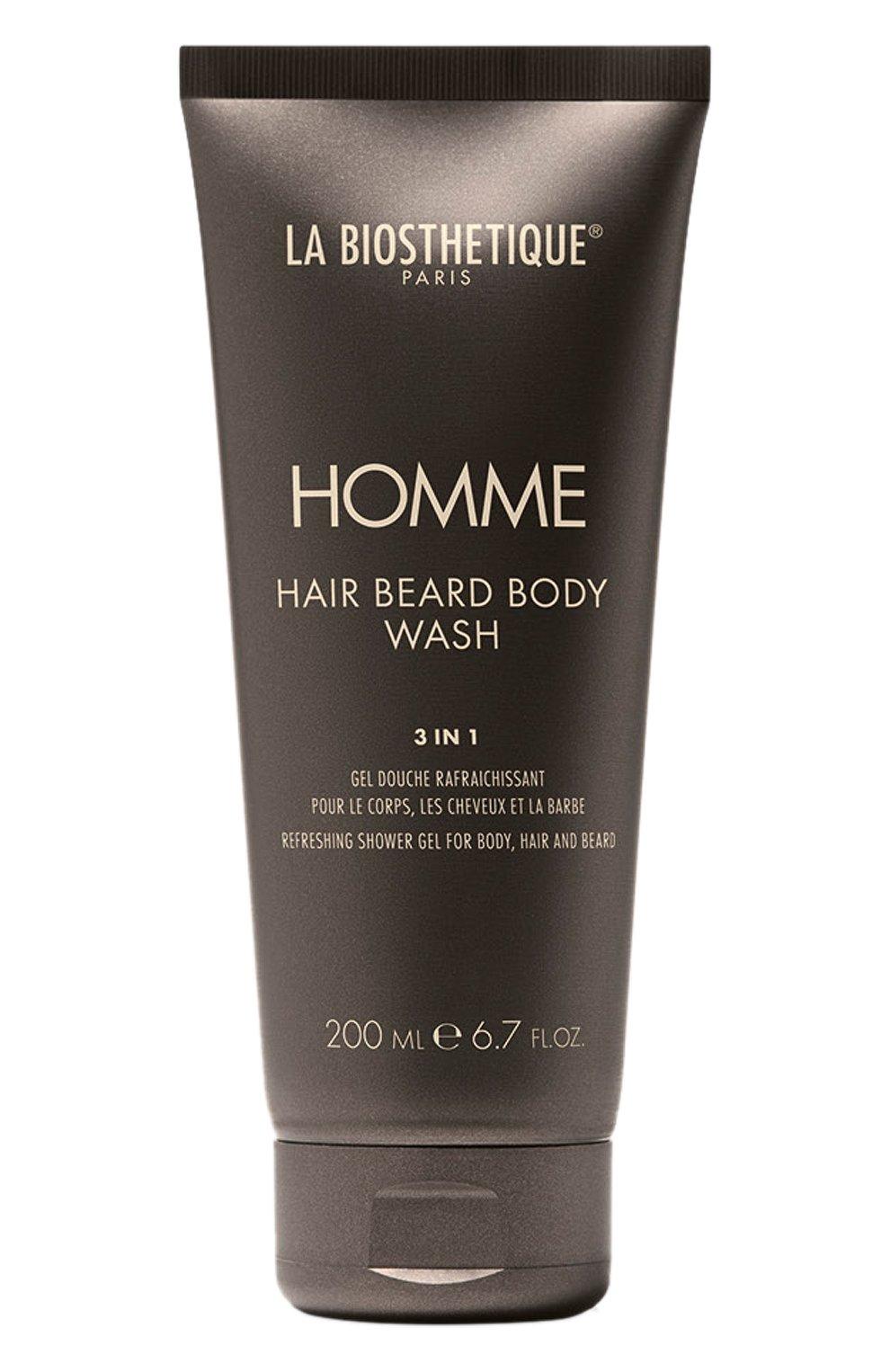 Мужского очищающий, увлажняющий и освежающий гель для тела, волос и бороды LA BIOSTHETIQUE бесцветного цвета, арт. 3928 | Фото 1