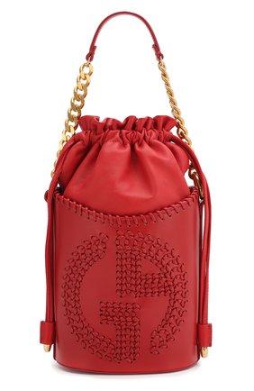 Женская сумка GIORGIO ARMANI красного цвета, арт. Y1E137/YTC5A | Фото 1