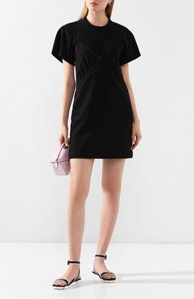 Женские кожаные сандалии MONCLER черного цвета, арт. F1-09B-4L703-40-02S8J   Фото 2