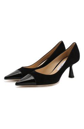 Женская замшевые туфли rene 65 JIMMY CHOO черного цвета, арт. RENE 65/SPT | Фото 1