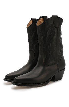 Женские кожаные сапоги VIC MATIE черного цвета, арт. 1X8454D.X16X040101 | Фото 1