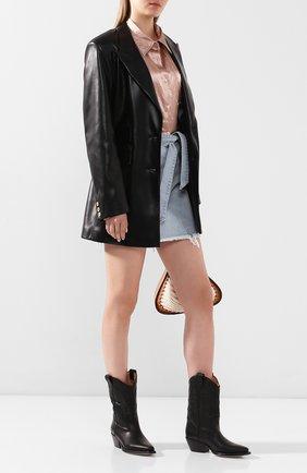 Женские кожаные сапоги VIC MATIE черного цвета, арт. 1X8454D.X16X040101 | Фото 2