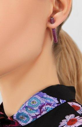 Женские моносерьга LEVASHOVAELAGINA розового цвета, арт. leya/ea | Фото 2