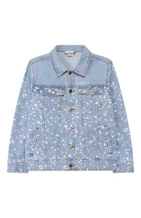 Детского джинсовая куртка STELLA MCCARTNEY голубого цвета, арт. 589433/S0KC0 | Фото 1