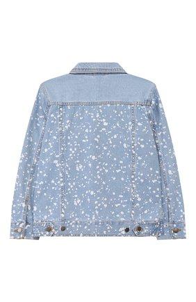 Детского джинсовая куртка STELLA MCCARTNEY голубого цвета, арт. 589433/S0KC0 | Фото 2