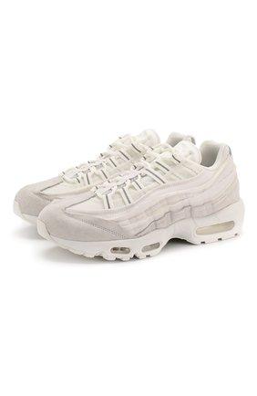 Мужские комбинированные кроссовки comme des garcons x nike air max 95 NIKELAB белого цвета, арт. PE-K101-002 | Фото 1