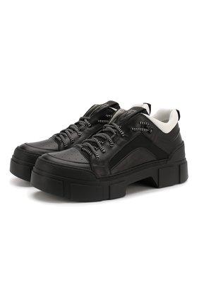 Мужские комбинированные ботинки VIC MATIE черного цвета, арт. 1X8160U.V06TXHT284 | Фото 1