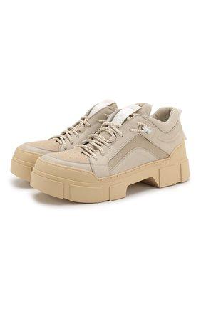 Мужские комбинированные ботинки VIC MATIE бежевого цвета, арт. 1X8160U.V06TXITD13 | Фото 1