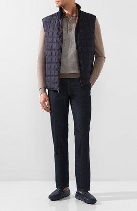 Мужские кожаные мокасины ZILLI синего цвета, арт. MDT-M040/003/12-15 | Фото 2