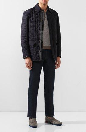 Мужские кожаные лоферы ZILLI темно-серого цвета, арт. MDT-M046/003/12-15 | Фото 2