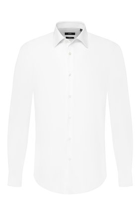 Мужская хлопковая сорочка BOSS белого цвета, арт. 50432700 | Фото 1