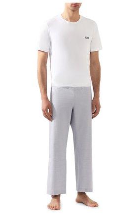 Мужские хлопковая футболка BOSS белого цвета, арт. 50381904 | Фото 2