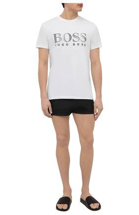 Мужские хлопковая футболка BOSS белого цвета, арт. 50407774 | Фото 2