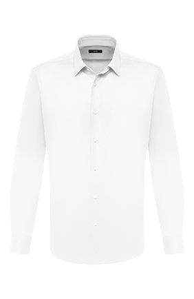 Мужская хлопковая сорочка BOSS белого цвета, арт. 50433149 | Фото 1