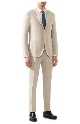 Мужская хлопковая сорочка BOSS белого цвета, арт. 50433149   Фото 2