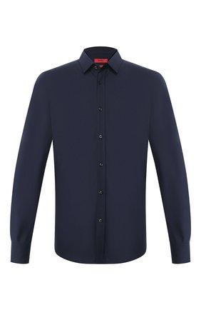 Мужская хлопковая сорочка HUGO темно-синего цвета, арт. 50425897 | Фото 1