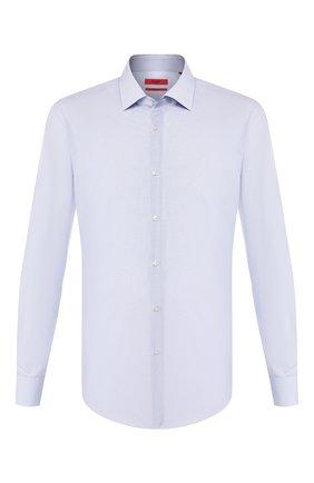 Мужская хлопковая сорочка HUGO голубого цвета, арт. 50431335 | Фото 1