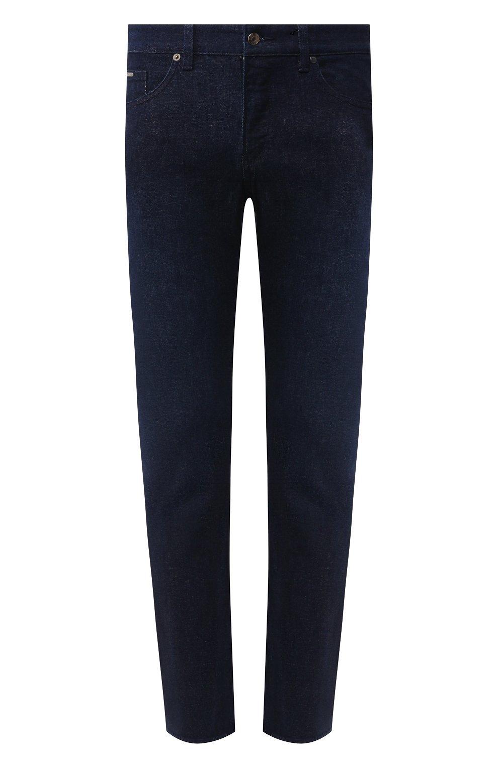 Мужские джинсы BOSS синего цвета, арт. 50432472 | Фото 1
