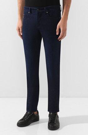 Мужские джинсы BOSS синего цвета, арт. 50432472 | Фото 3