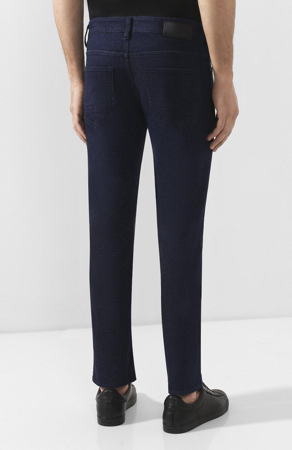 Мужские джинсы BOSS синего цвета, арт. 50432472 | Фото 4