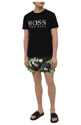 Мужские хлопковая футболка BOSS черного цвета, арт. 50407774 | Фото 2