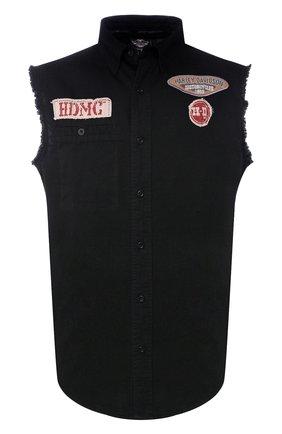 Мужская джинсовая рубашка genuine motorclothes HARLEY-DAVIDSON черного цвета, арт. 96472-15VM | Фото 1
