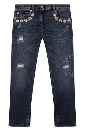 Детские джинсы DOLCE & GABBANA синего цвета, арт. L51F54/LD865/2-6 | Фото 1