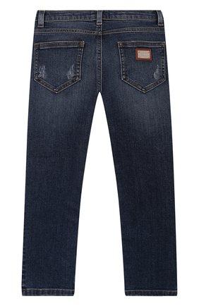 Детские джинсы DOLCE & GABBANA синего цвета, арт. L51F54/LD865/2-6 | Фото 2