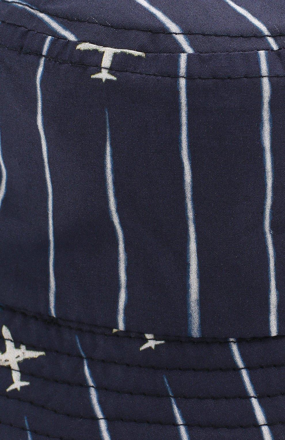 Детская хлопковая панама CATYA синего цвета, арт. 014053 | Фото 3