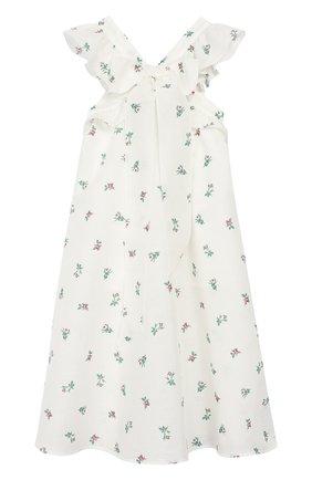 Детское платье из льна и хлопка PHILOSOPHY DI LORENZO SERAFINI KIDS белого цвета, арт. PJAB81/LC76/VH011/S-M | Фото 1