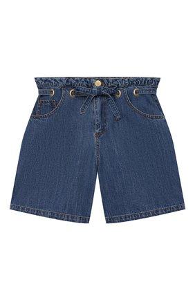 Детские джинсовые шорты PHILOSOPHY DI LORENZO SERAFINI KIDS синего цвета, арт. PJBE12/DF003/VHUNI/L-XL | Фото 1