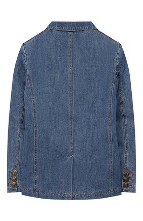 Детский джинсовый жакет PHILOSOPHY DI LORENZO SERAFINI KIDS синего цвета, арт. PJGC07/DF003/VHUNI/L-XL   Фото 2