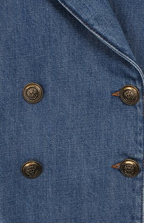 Детский джинсовый жакет PHILOSOPHY DI LORENZO SERAFINI KIDS синего цвета, арт. PJGC07/DF003/VHUNI/S-M | Фото 3
