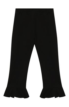 Детские хлопковые брюки PHILOSOPHY DI LORENZO SERAFINI KIDS черного цвета, арт. PJPA30/FE144/VH020/L-XL   Фото 1