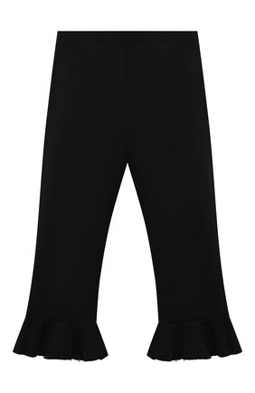 Детские хлопковые брюки PHILOSOPHY DI LORENZO SERAFINI KIDS черного цвета, арт. PJPA30/FE144/VH020/L-XL   Фото 2